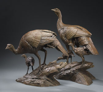 hen poult turkey sculpture Walter Matia