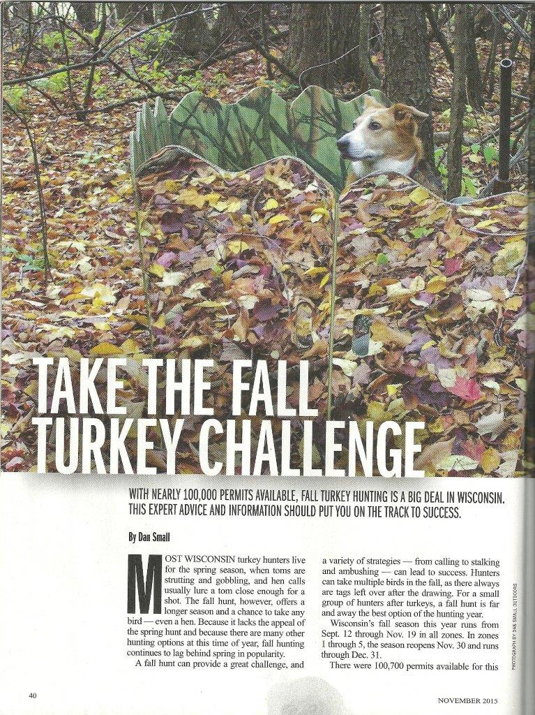 Fall turkey hunting with a dog in Wisconsin